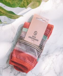 Imme Thin Stripe Sock Hot Sauce