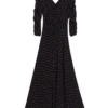 Autumn Ruching Maxi Dress Tulip Black