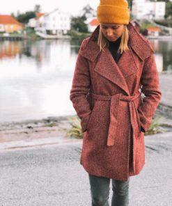 Merlea Coat Syrah Heringbone