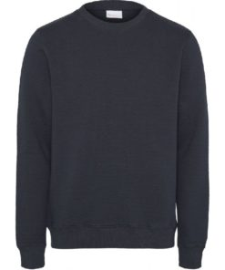 ELM Quilted O-Neck Sweater Total Eclipse
