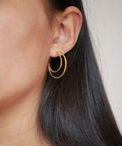 Hoops Moon Gold