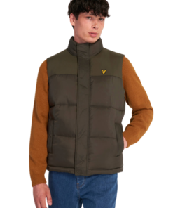 Wadded Gilet Vest Trek Green