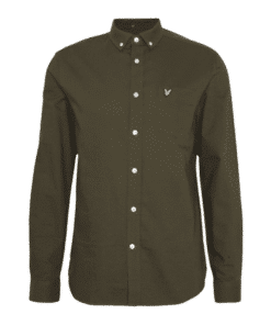 Regular Fit Light Weight Oxford Shirt Trek Green