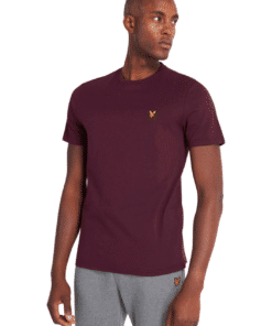 Crew Neck T-Shirt Burgundy