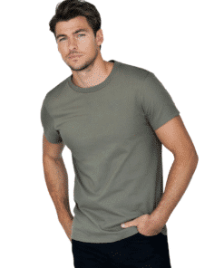 Crew-Neck Regular T-Shirt Olive Green