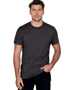 Crew-Neck Regular T-Shirt Espresso Brown