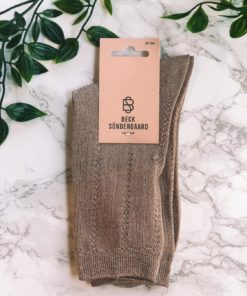 Glitter Drake Sock Sandstone