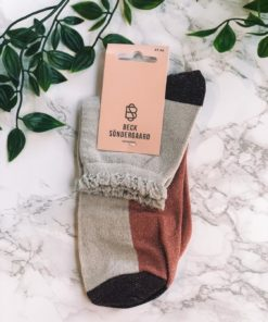 Blocka Glam Sock Silver Gray