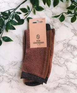 Shimmer Pasha Sock Dusty Cedar