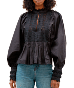 Broderie Anglaise Blouse Black