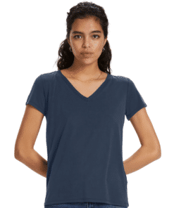 Columbine V-Neck T-Shirt Navy