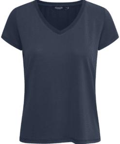 Columbine V-Neck T-Shirt Navy