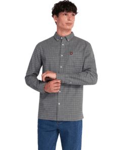 Grid Check Shirt Mid Grey Marl