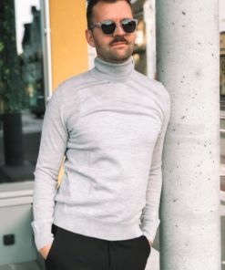Flemming Turtle Neck Grey Mel