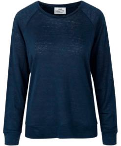 Tristella Organic Linen T-Shirt Navy