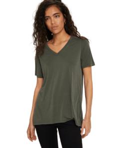 Columbine V-Neck T-Shirt Climbing Ivy