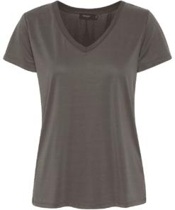 Columbine V-Neck T-Shirt Raven