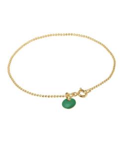 Bracelet Ball Chain Petrol Green