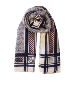Chevsquare Siw Scarf Blue