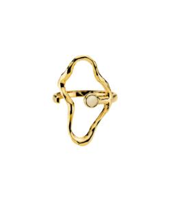 Bentsen by Sistie Ring White Gold