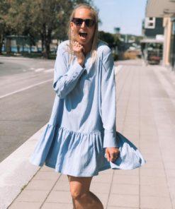 Decimina Recy Seersucker Dress Forever Blue