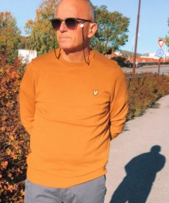 Cotton Merino Crew Jumper Caramel