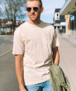Organic Cotton-Jersey Crewneck T-Shirt Beige