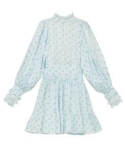 Cotton Slub Mini Dress Stripe