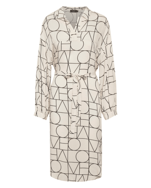 Montoya Tunic Dress Love Print Sandshell