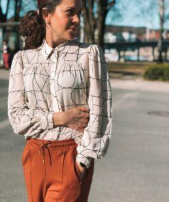 Montoya Shirt Love Print Sandshell