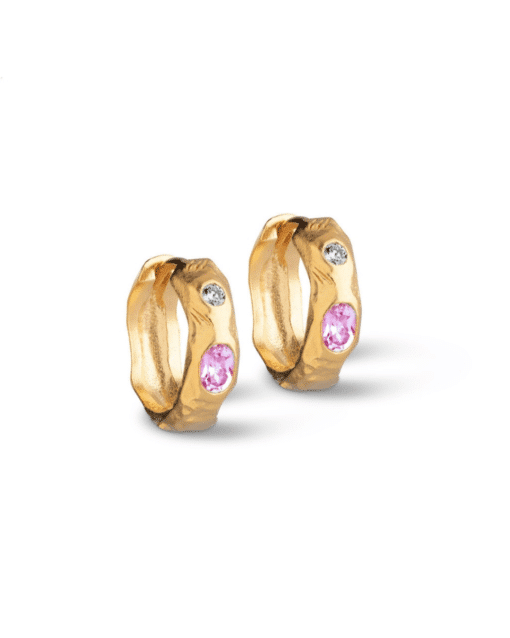 Hoops Leonora Pink White
