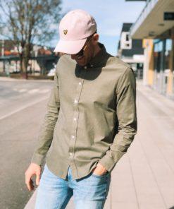 Liam BX 11039 Cord Shirt Deep Lichen Green