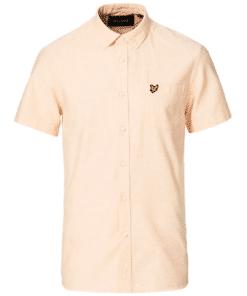 Short Sleeve Oxford Shirt Melon White