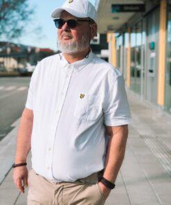 Short Sleeve Oxford Shirt White