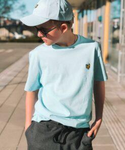 Plain Crew Neck T-Shirt Deck Blue