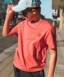 Plain Crew Neck T-Shirt Punch Pink