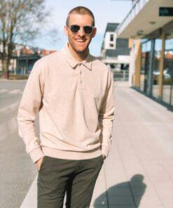 Structured Felpa Sweater Beige