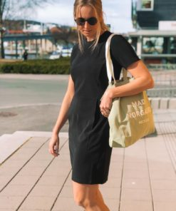 Diella Heavy Rib Dress Black