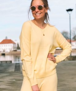 Cashmere V-Jumper Tender Yellow