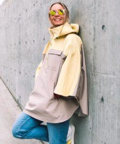 Libra Rain Poncho Tender Yellow/Greige