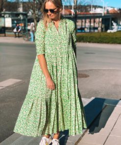 Delicate Shirt Dress Green Garden