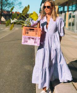 Poplin Maxi Dress Lilac