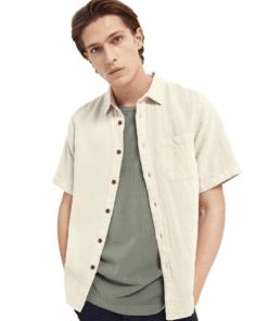 Organic Cotton-blend Short Sleeve Shirt