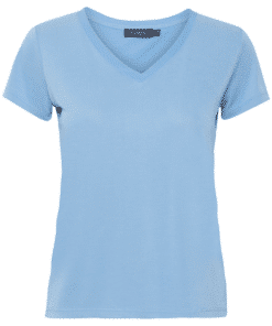 Columbine V-Neck T-Shirt SS Lichen Blue