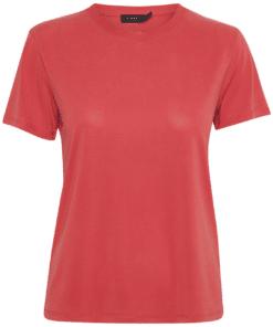 Columbine Crew-Neck T-Shirt Cardinal