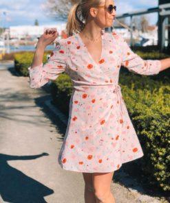 Britt s Wrap Dress Pink Garden