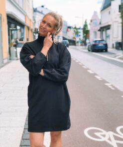 Oversized Sweat Dress Black