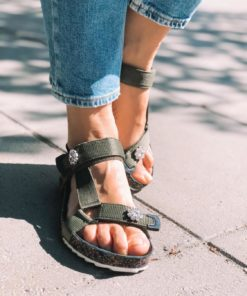 Velcro Galia Sandal Army
