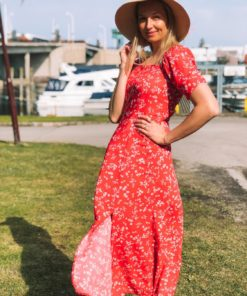 Haiku Maxi Dress Cardinal Bouquet