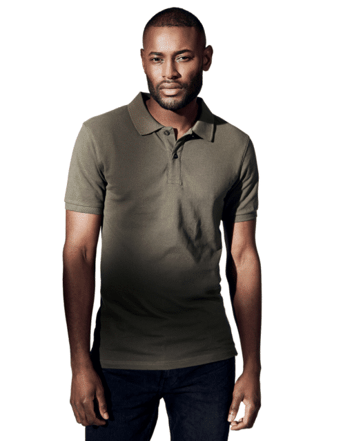 Pique Polo T-Shirt Olive Green